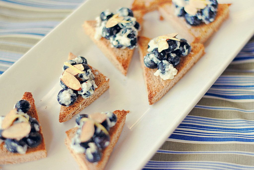 Blueberry Almond Crostinis