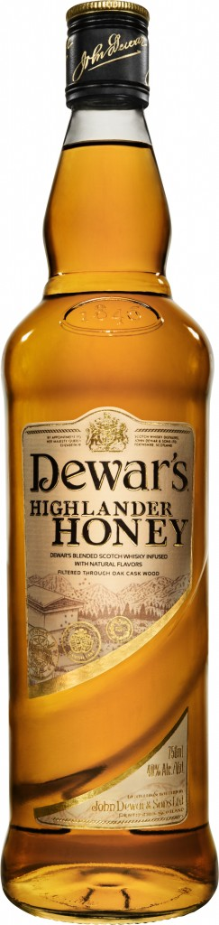 DHH Bottle High Res 243x1024 Dewars Highlander Honey