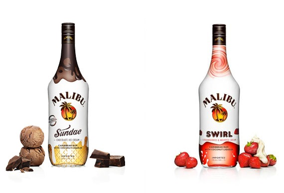 MalibuSundae1 Coming Soon: Malibu Sundae and Malibu Swirl Rums