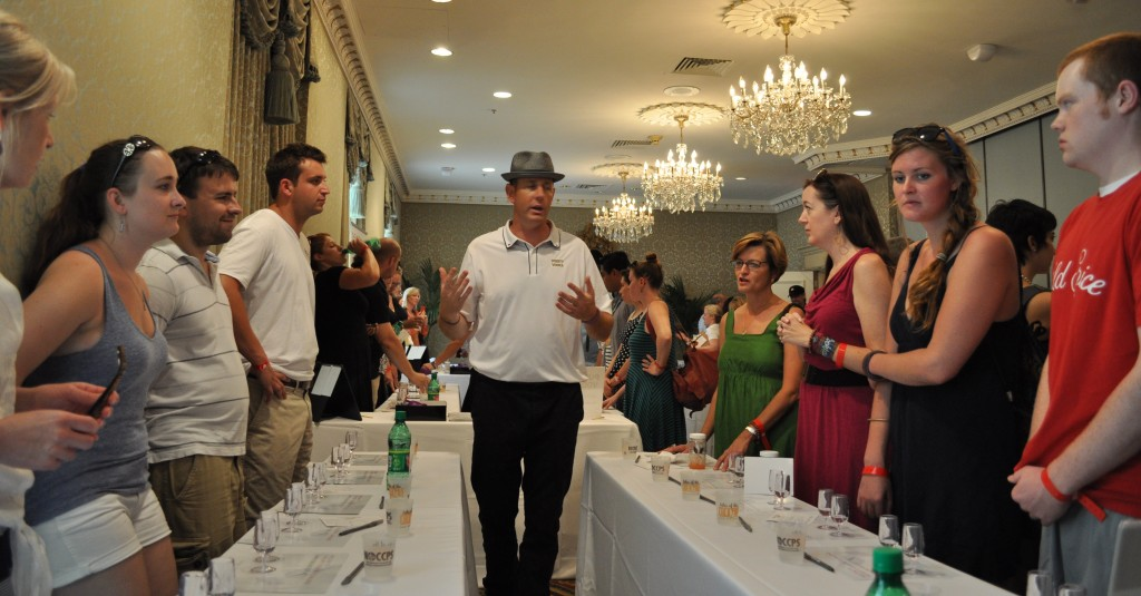 John Pomeroy Tasting Table at ToTC 3 1024x535 The VODKA Taste Test: Purity Vodka Challenge