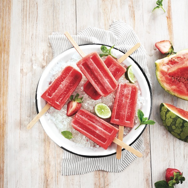Adult Popsicles: Watermelon Mint Acai Popsicles