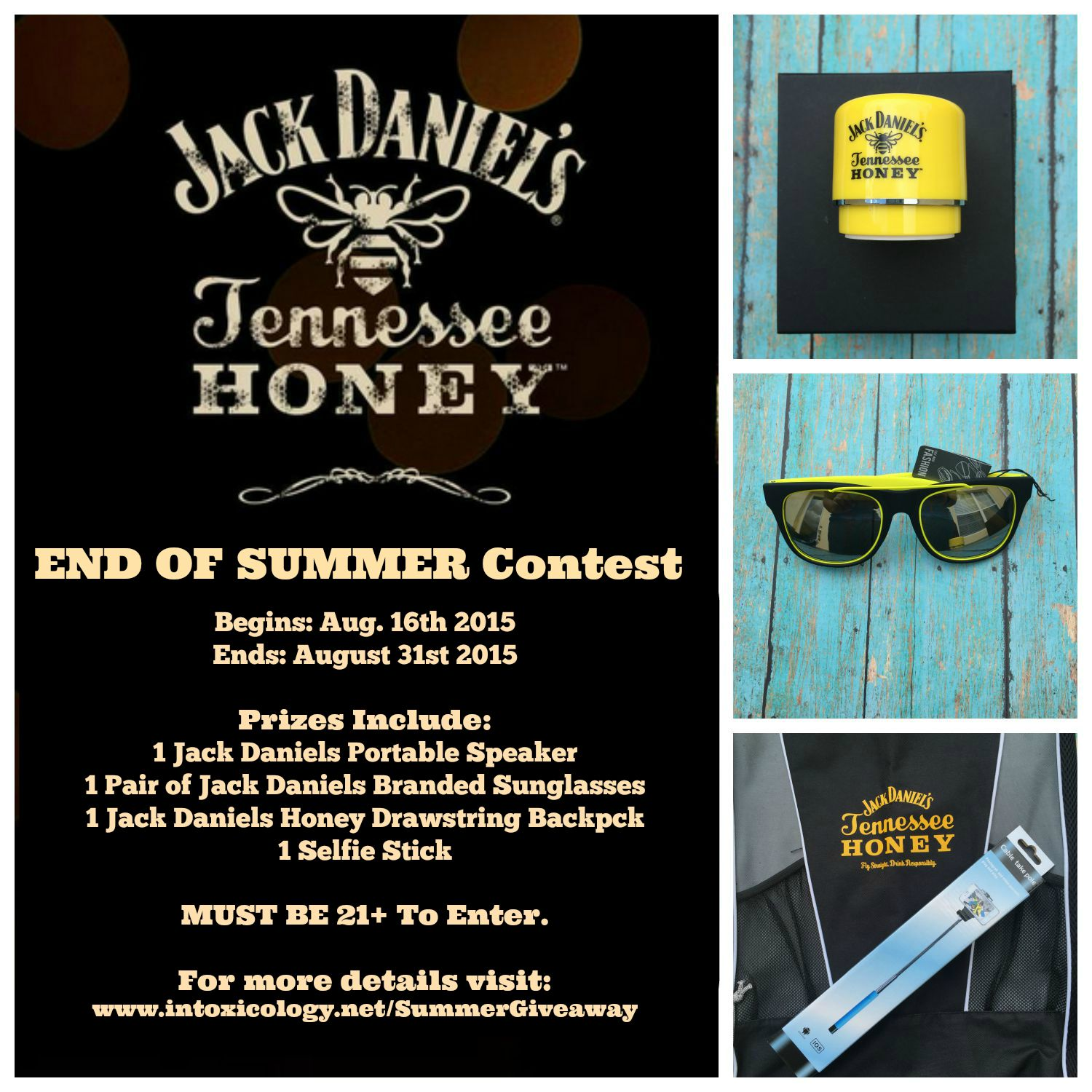 End of Summer Giveaway with Jack Daniels Tennessee Honey