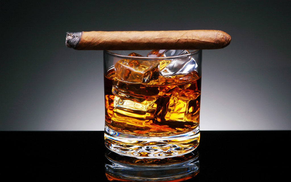 whiskies and cigars